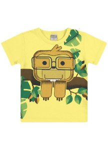Camiseta Preguiça de Óculos