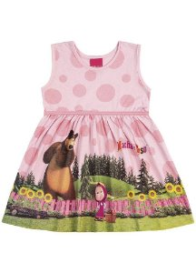 Vestido Masha e o Urso