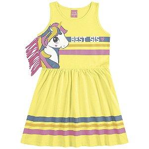 Vestido Franjinha Super Amiga