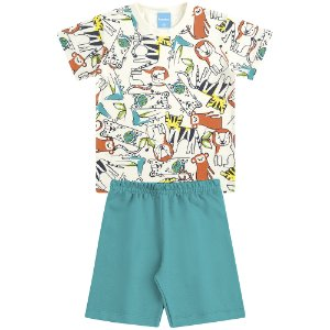 Conjunto Camiseta e Bermuda Amigo dos Animais