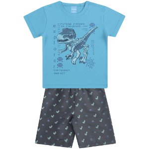 Conjunto Camiseta e Bermuda Dino Attack