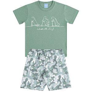 Conjunto Camiseta e Bermuda Indo de Patinete