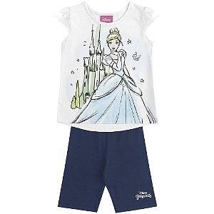 Conjunto Blusa e Ciclista - Cinderela Princesas