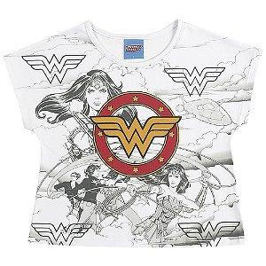 Blusa Mulher Maravilha - Liga da Justiça