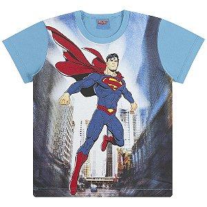 Camiseta Super Homem, Batman e Flash em Ação - Liga da Justiça