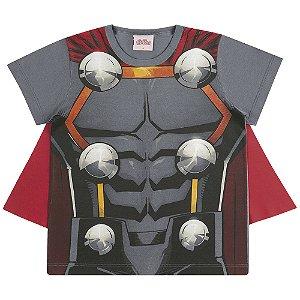 Camiseta Fantasia Thor com Capa - Vingadores