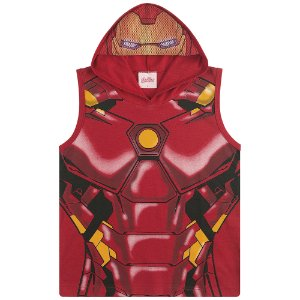 Regata Fantasia com Capuz Capitão América, Homem de Ferro e Hulk - Vingadores