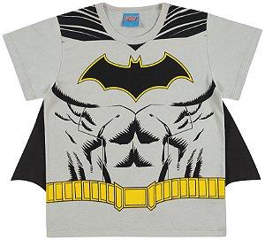 Camiseta Fantasia Batman com Capa - Liga da Justiça