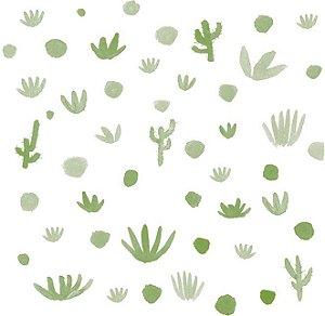 Papel de Parede Infantil de Cactus Verde