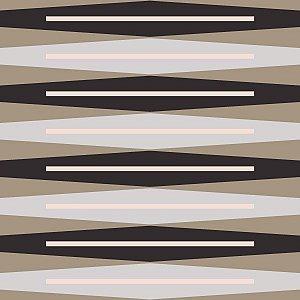 Papel de Parede Geométrico Bege / Branco / Preto / Rosa / Cinza