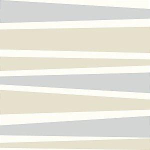 Papel de Parede Geométrico Cinza / Bege