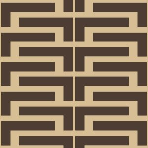 Papel de Parede Geométrico Preto / Bege