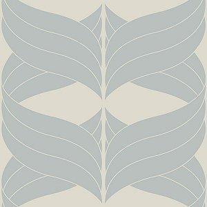 Papel de Parede Geométrico Branco / Azul