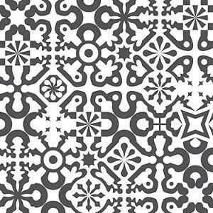 Papel de Parede Geométrico Preto / Branco