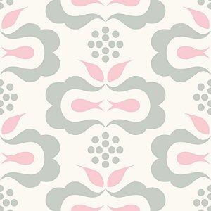Papel de Parede Geométrico Rosa / Branco / Cinza