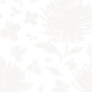 Papel de Parede Floral Branco / Off White