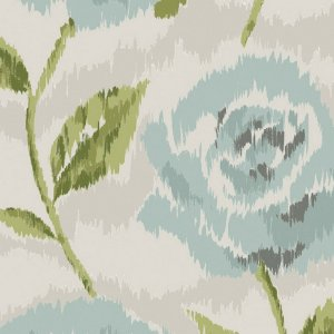 Papel de Parede Floral Azul / Verde