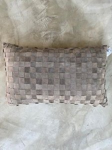 Almofada Tresse 50x30 Cinza Escuro
