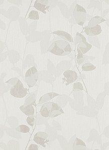 Papel de Parede de Folhas Cinza
