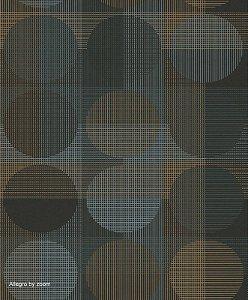 Papel de Parede Geométrico Azul / Dourado