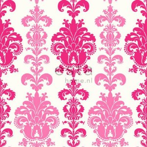 Papel de Parede Adamascado Rosa e Pink