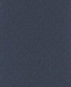 Papel de Parede Chevron Azul Marinho