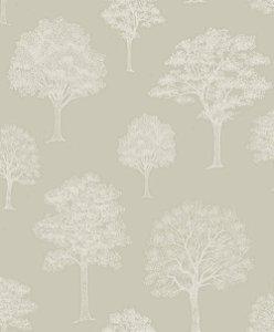 Papel de Parede de Árvores Cinza