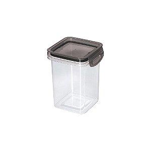 Porta Mantimentos Hermético Trava Mais Cristal Preto 830ml