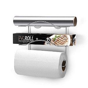Suporte Porta Rolo Papel Toalha PVC Arthi 1150 - Cromado