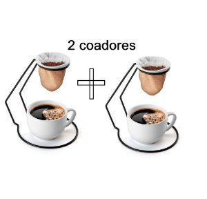 Kit 2 Mini Coadores Individual Pano Café Arthi 2485 - Luxo