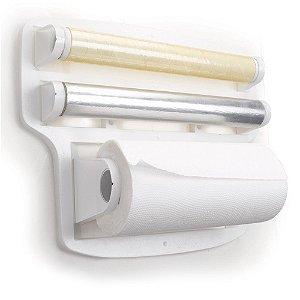 Suporte Porta Rolo Papel Toalha PVC Arthi 5108 - Branco