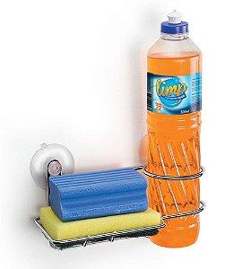 Porta Detergente Bucha de Parede Arthi 1153 - com Ventosa