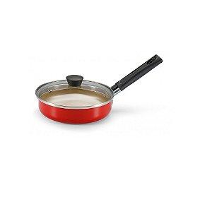 Frigideira Ovo Premium Panelux 14 Antiaderente Vermelha