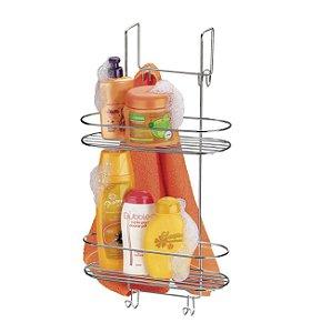 Suporte Porta Shampoo Sabonete para Box Arthi 1502 - Cromado