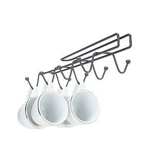 Suporte para Xicaras de Pendurar ARTHI 3314 - Aço Preto