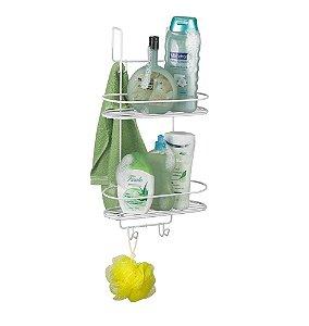 Suporte Porta Shampoo Sabonete para Box Arthi 2101 - Branco
