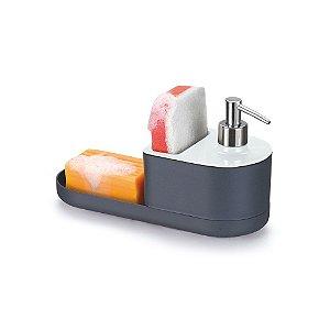 Porta Detergente e Bucha Arthi 5056 - Branco