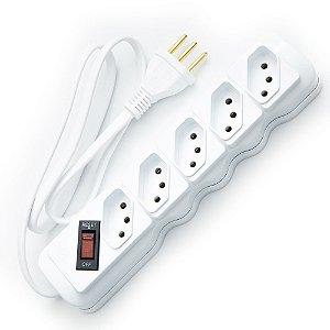 Filtro de linha ILUMI 5 entradas 10 Amperes Branco