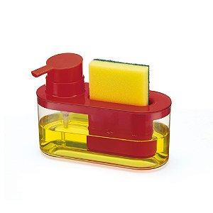 Porta Detergente Bucha Esponja Arthi 8526 - VERMELHO