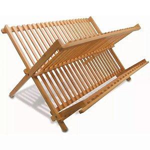 Escorredor de Pratos Dobrável Bamboo EcoKitchen MimoStyle