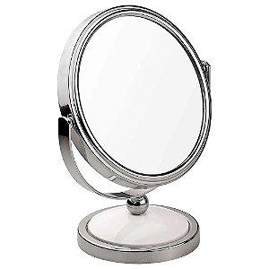 Espelho de Aumento Dupla Face 2x de Bancada MOR