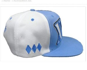 Boné xxl tradicional azul e branco