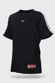 Camiseta prison nyc double stripes preta