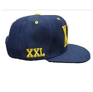 Boné logo xxl- snap-back azul
