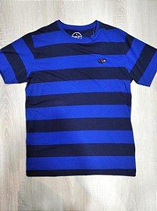 Camisa black blue listrada