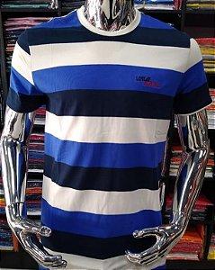 Camisa listrada lost beach azul escuro