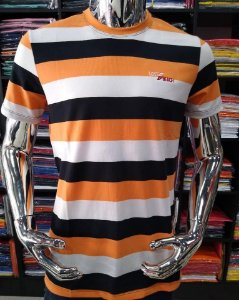 Camisa listrada lost beach laranja