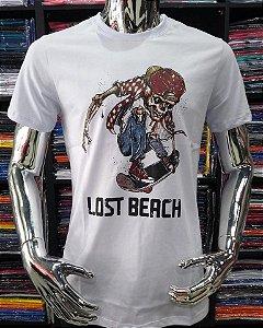 Camisa Lost Beach skull sk8