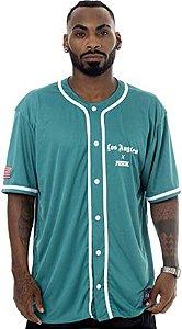 Camisa de baseball verde prison x los angeles