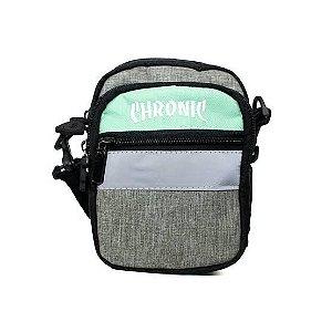 Shoulder bag chronic refletiva - cinza / verde